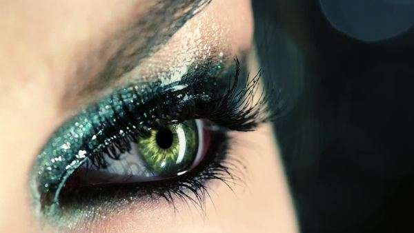 Close-up of a woman's eye Royalty-free stock video