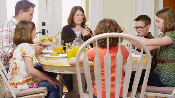 Family having dinner together Royalty-free stock video