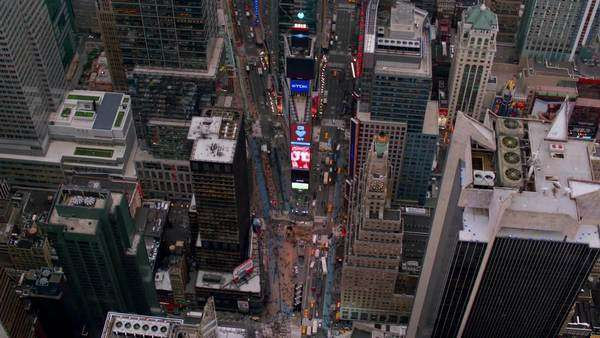 Aerial view of Times Square in New York City Royalty-free stock video