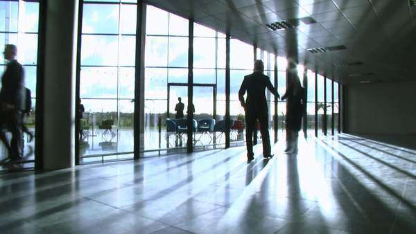 Business group take a look around potential new office space Royalty-free stock video