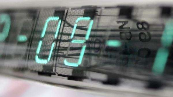 numerical digital display made from an LED clock counter. Royalty-free stock video