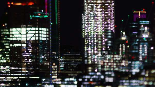 London skyline at night Royalty-free stock video