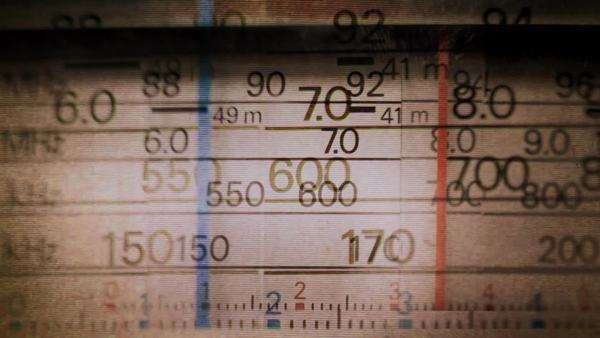 an analogue radio dial being tuned Royalty-free stock video
