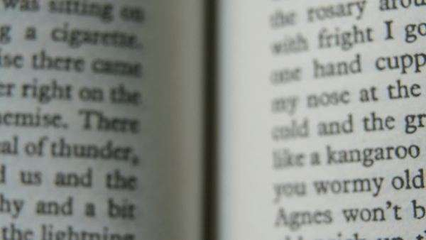 different layers of close-up of different pages of a book Royalty-free stock video