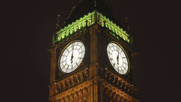 big ben clock in London, during 30 minutes speeded up Royalty-free stock video