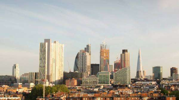 beautiful day to night timelapse of the skyline of London Royalty-free stock video