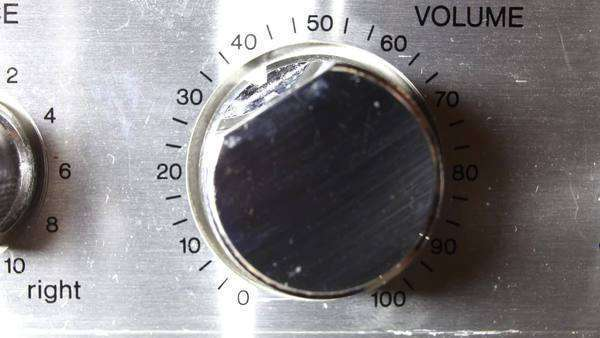 close-ups of volume control on an old hifi turning Royalty-free stock video