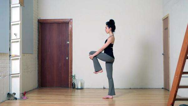 Women practicing yoga Royalty-free stock video