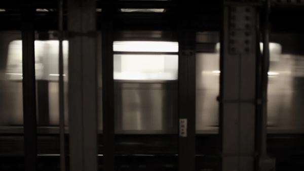 Subway train leaving station Royalty-free stock video