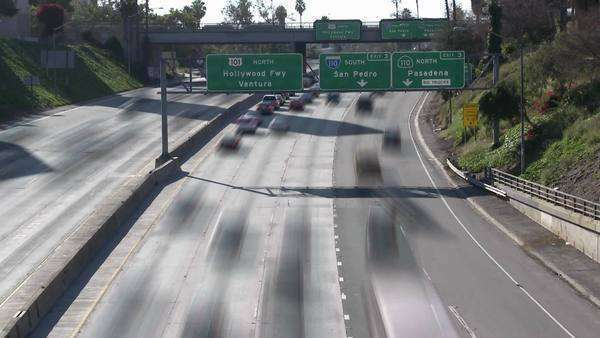 Timelapse of Los Angeles freeways and city scapes Royalty-free stock video