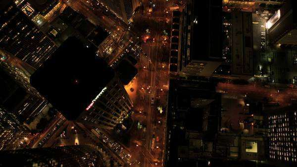 San Francisco - December 18: Aerial view of city  buildings at night in San Francisco December 18, 2011 Royalty-free stock video