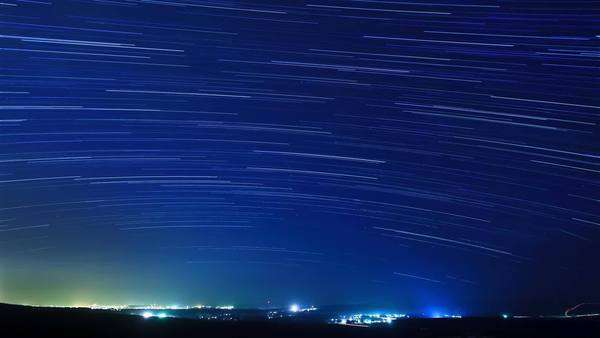 Timelapse of stars above the city Royalty-free stock video