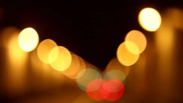 Soft to sharp focus of lights in traffic tunnel Royalty-free stock video