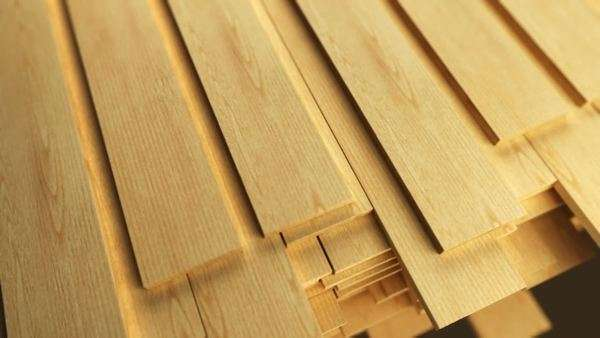 Clean freshly-cut wooden planks Royalty-free stock video