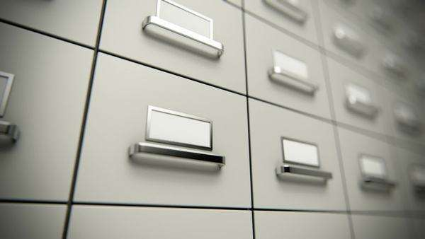 File cabinet loopable animation Royalty-free stock video