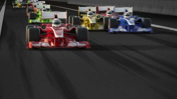 F1 cars racing Royalty-free stock video
