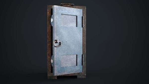 Old, rusty, empty steel safe with unlocked door in a conceptual image of finances, wealth, and burglary Royalty-free stock video