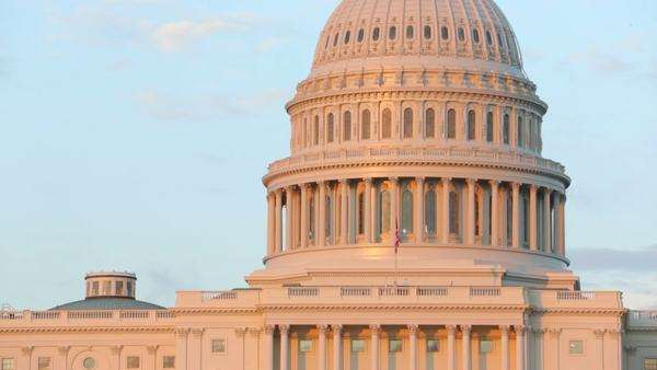 US Capitol Building at sunset, Washington DC Royalty-free stock video