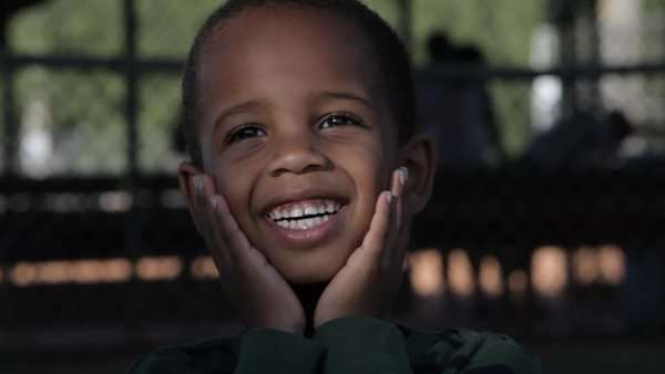 African American boy smiling Royalty-free stock video