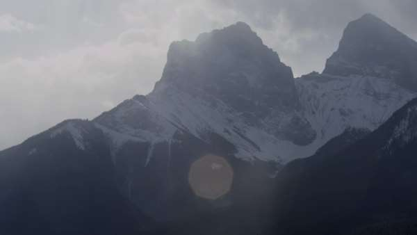 Extreme long shot of snowy mountain range Royalty-free stock video