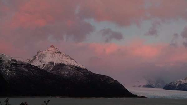 Sunrise over a glacier. Royalty-free stock video