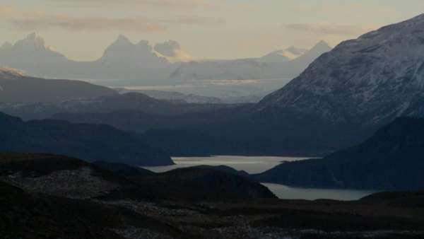 Gorgeous lakes and glaciers in the remote Andes mountains, Patagonia. Royalty-free stock video