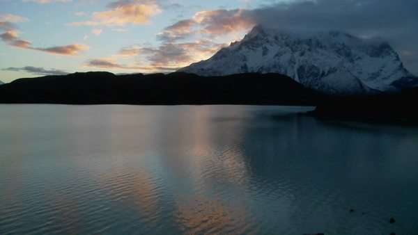 A wide shot of a beautiful lake in Patagonia, Argentina. Royalty-free stock video