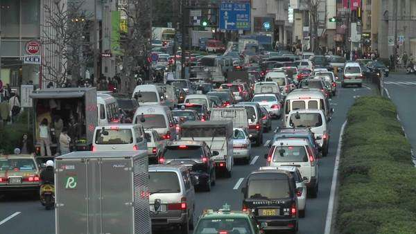 Rush hour traffic jam in Shibuya Tokyo Japan. Royalty-free stock video