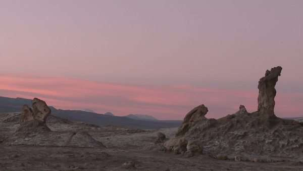 Timelapse of sunset in the Valley of the Moon near San Pedro de Atacama Chile. Royalty-free stock video