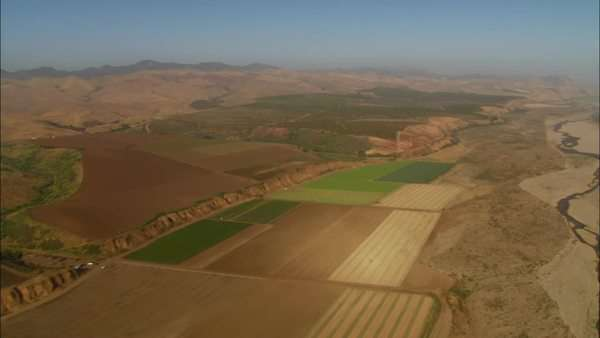 Helicopter aerial of the Santa Maria Valley California. Royalty-free stock video
