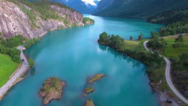 Beautiful Nature Norway natural landscape Royalty-free stock video