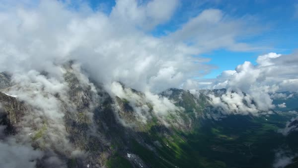 Aerial footage Beautiful Nature Norway Royalty-free stock video