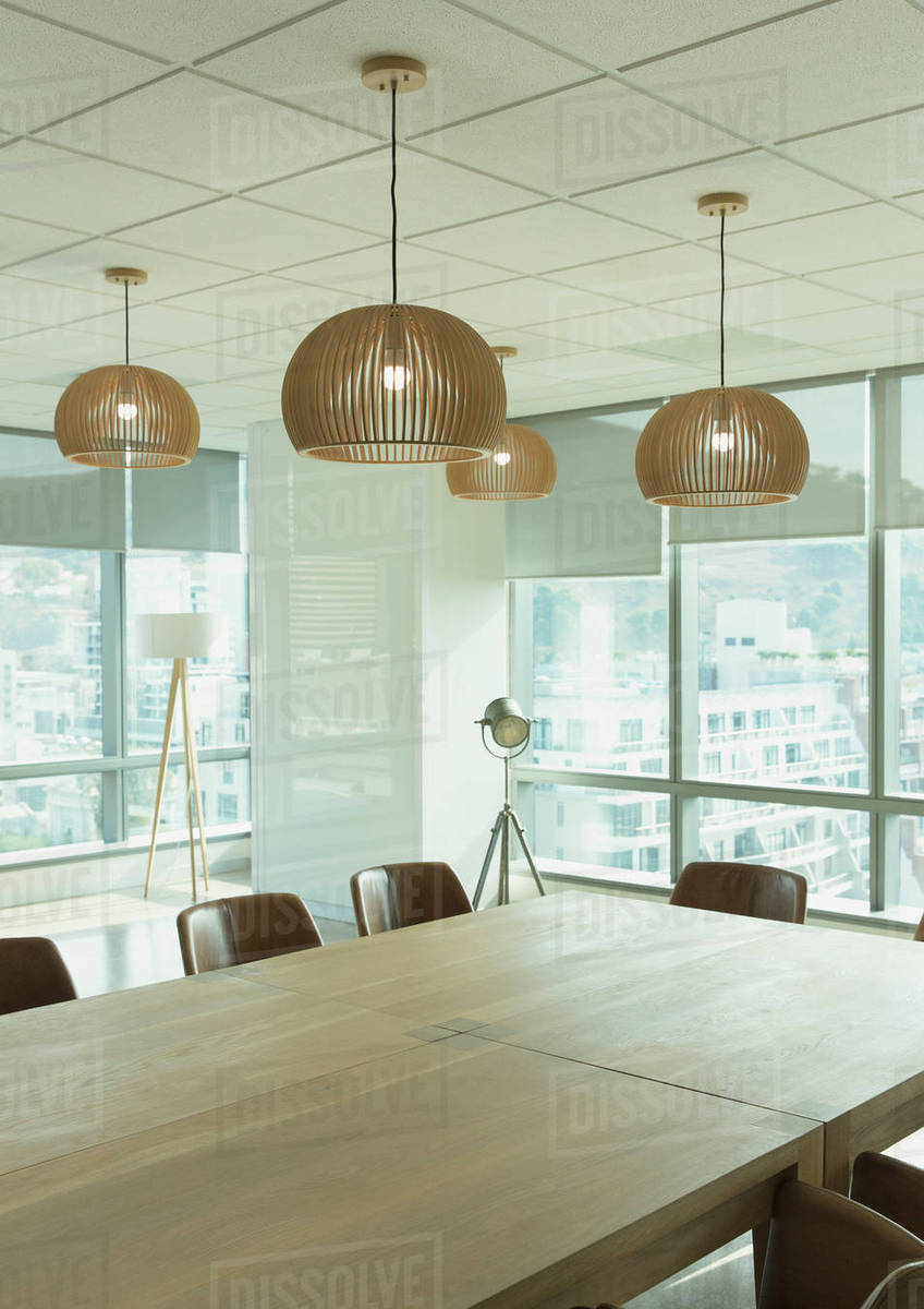 Conference Table And Pendant Lights In Modern Room D1007 14 075