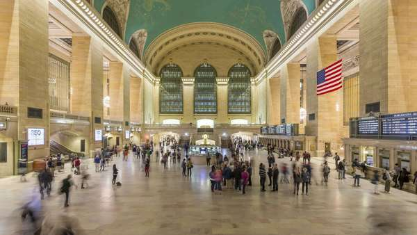 Timelapse sequence taken in the Grand Central Terminal Station in NYC Royalty-free stock video