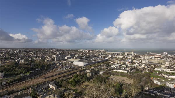 Timelapse sequence of Cherbourg during the daytime Royalty-free stock video