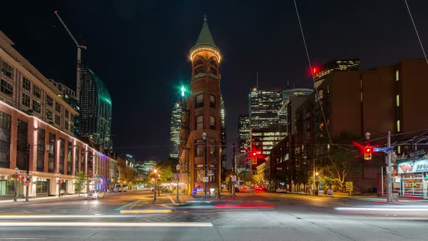 Timelapse of Toronto, Canada - Wellington Street East Royalty-free stock video