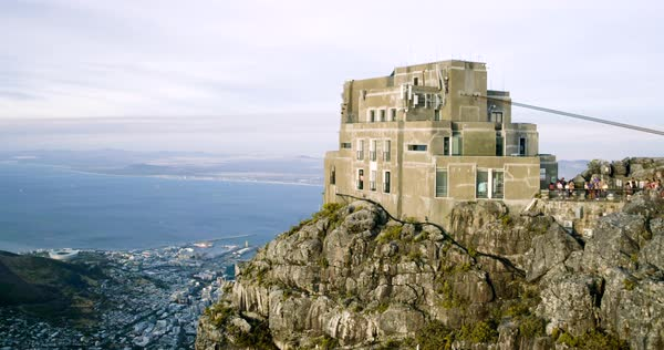 Aerial shot of Table Mountain in Cape Town, South Africa Royalty-free stock video