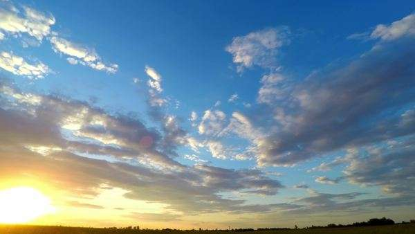 Sunset sky, timelapse, looking up Royalty-free stock video
