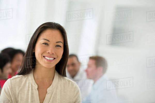 Business Meeting. A Group. A Confident Businesswoman. Leader. Royalty-free stock photo