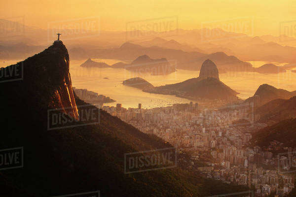 Rio de Janeiro viewed from the air, Brazil Rights-managed stock photo