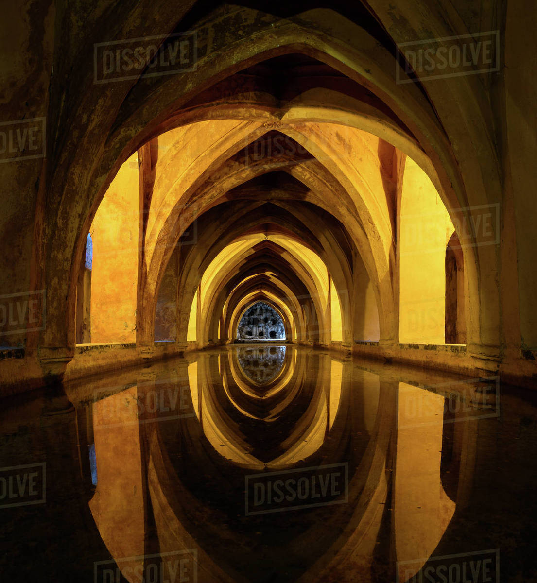 interior view photography. Delighful Interior Interior View Of The Rainwater Bath In Alcazar De Seville Andalusia  Spain With View Photography