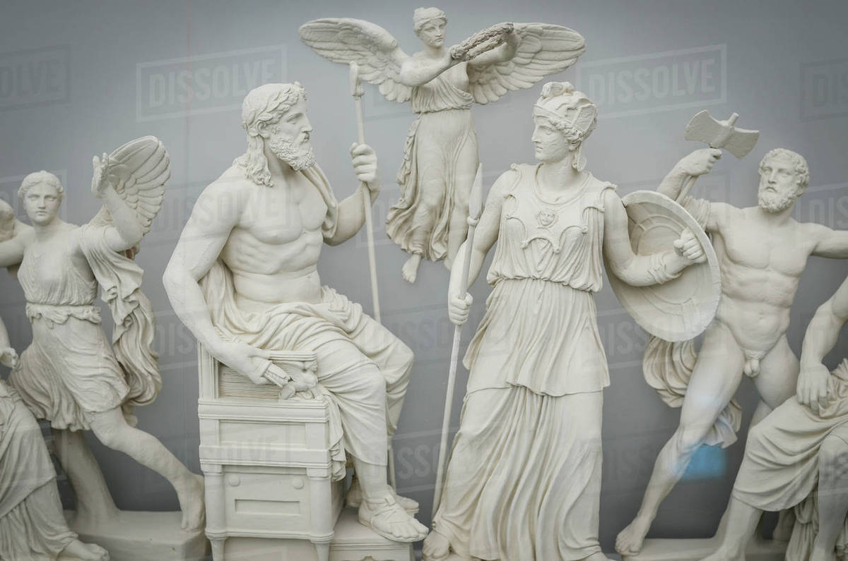Classical Greek Sculptures Of Gods And Goddesses Athens Greece Stock Photo Dissolve