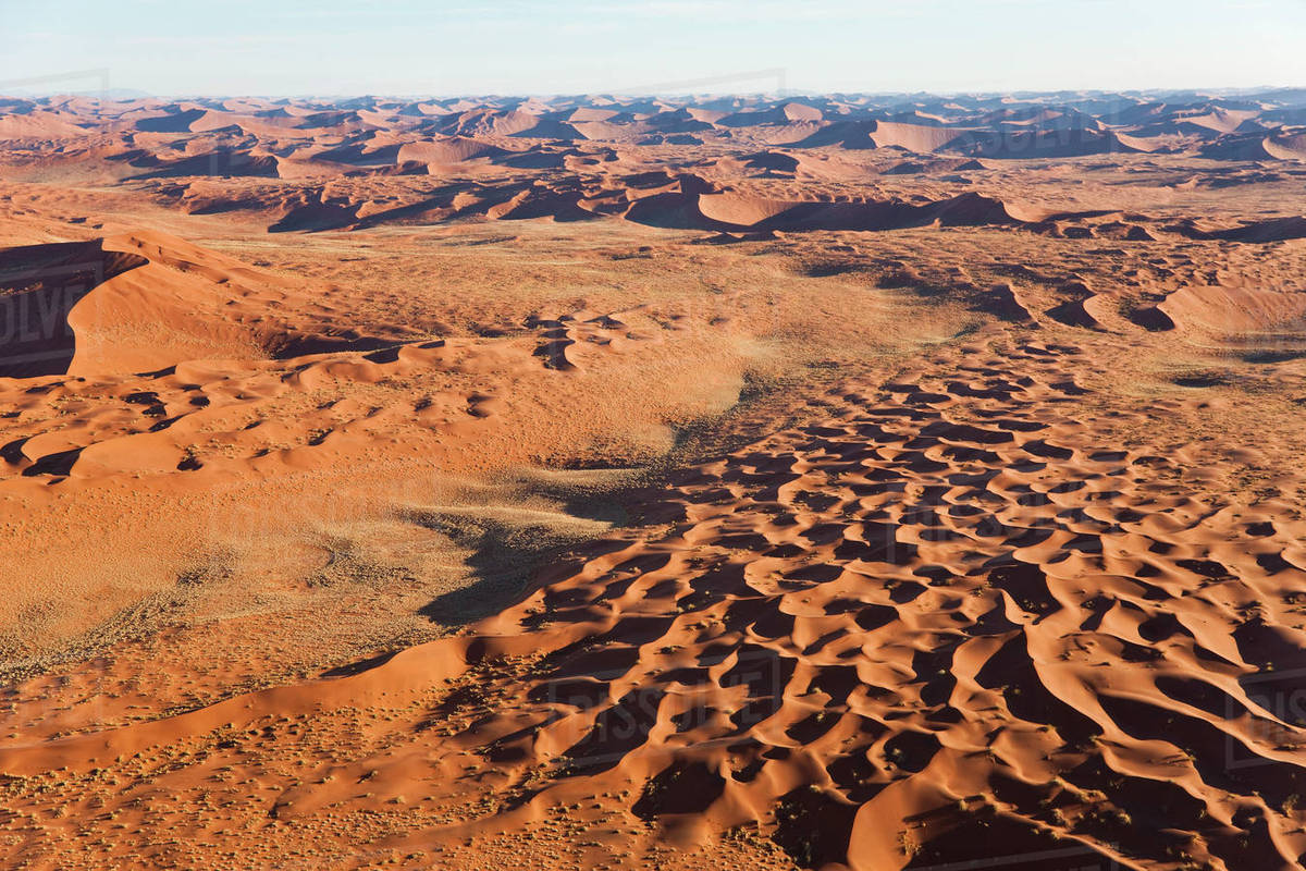 Aerial view of desert landscape. Royalty-free stock photo