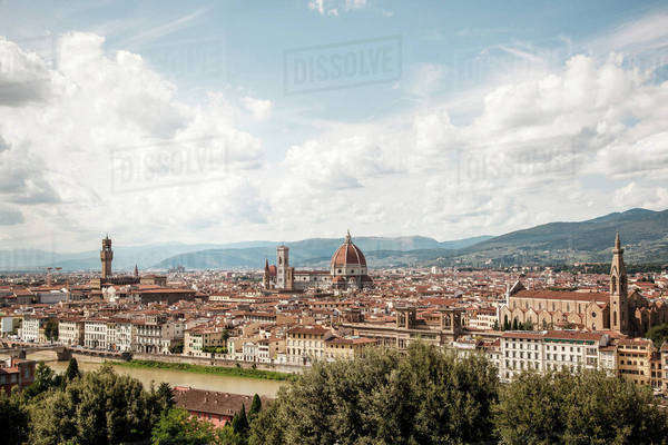 Cityscape of Florence, Italy Royalty-free stock photo
