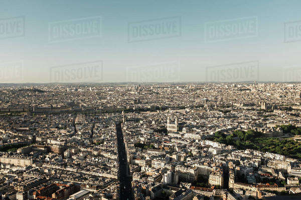 Cityscape of Paris, France Royalty-free stock photo