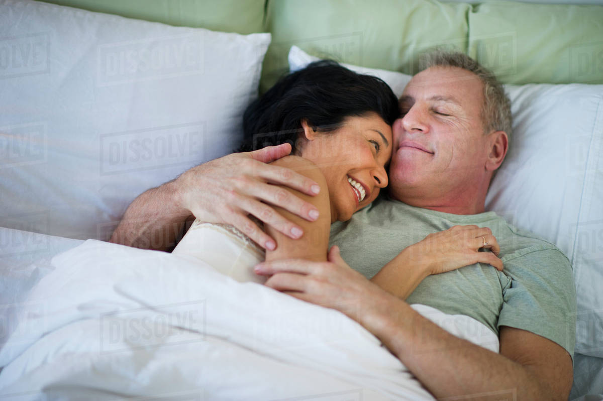 Mature couple inbed
