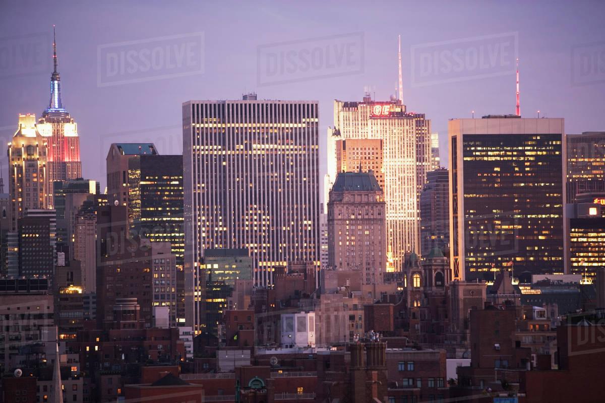 usa new york state new york city city skylines stock photo