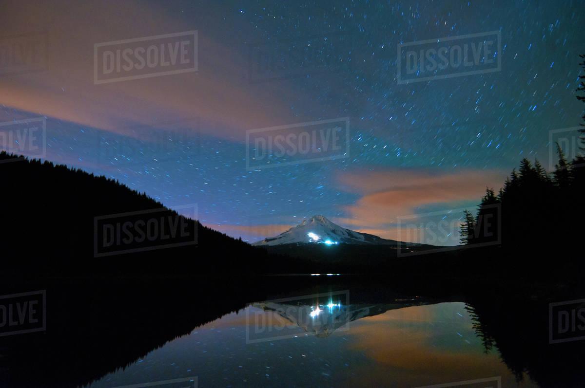 Trillium Lake Night