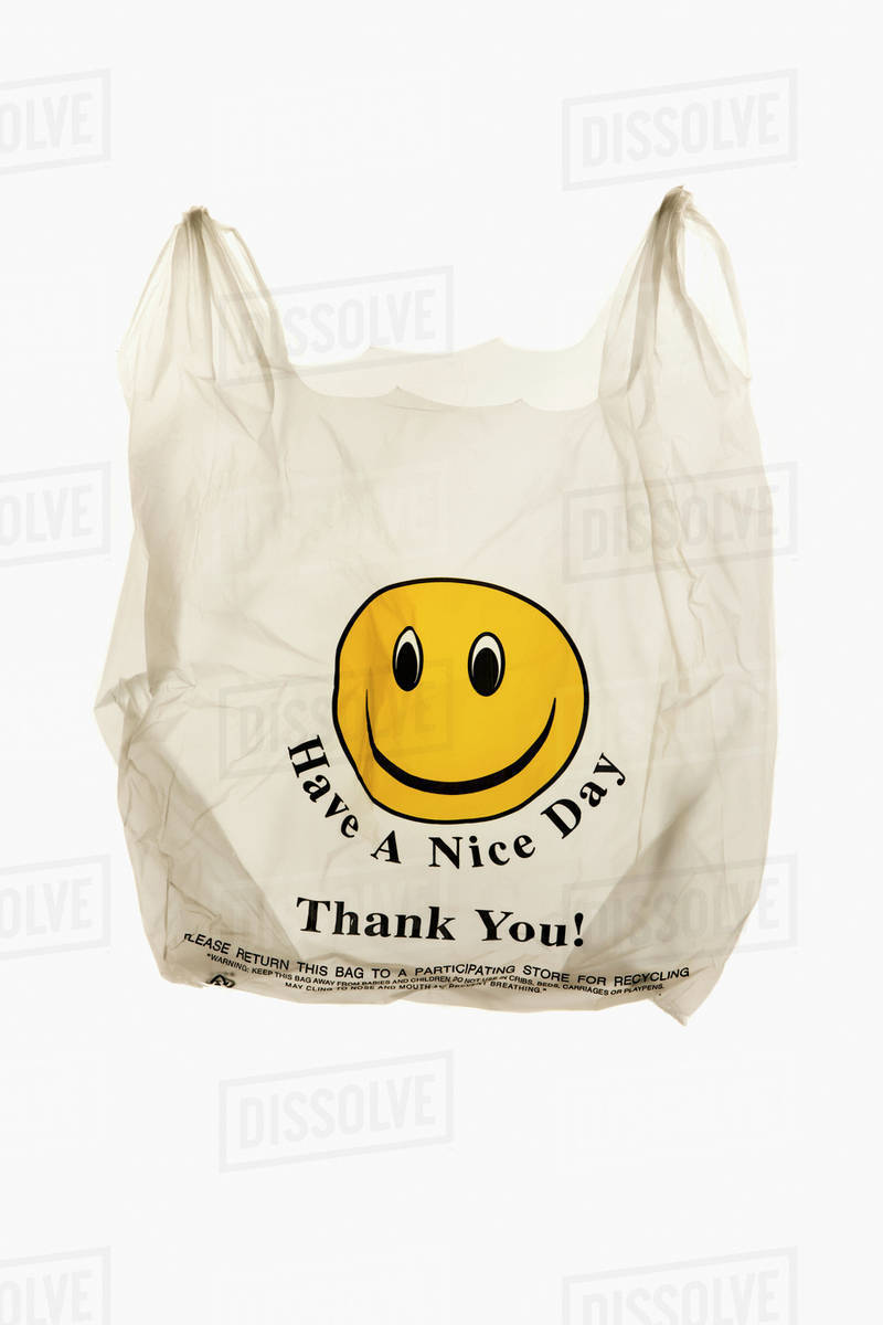 Plastic grocery bag Royalty-free stock photo