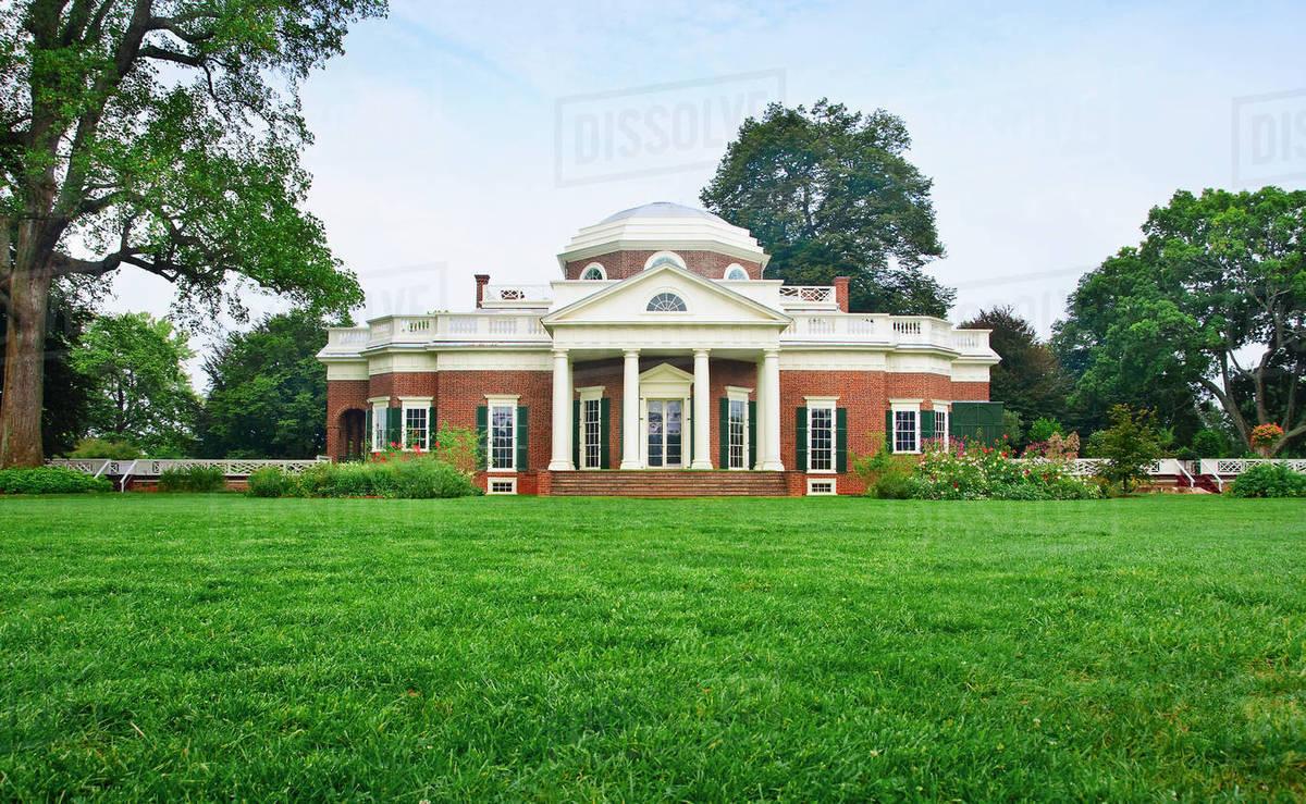 Thomas Jefferson S House Stock Photo Dissolve